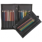 "Heritage Arts™ Easy Pack & Go Traveler™ Pencil and Brush Holder: 16 Pencils, Black/Gray, Nylon, 3 1/2"" x 8 1/2"", Case, (model PB12), price per each"