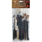 Heritage Arts™ 42-Piece Perfectly Imperfect Brush Value Set: Multi, Natural Bristle, Synthetic Bristle, Multi, Multi, Multi, (model ABP102), price per set