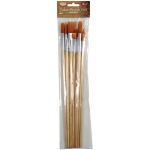 Heritage Arts™ 10-Piece Long Handle Oil Brush Value Set: Long Handle, Oil