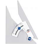 "Alvin® Tru-Angle™ 6"" Adjustable Triangle: Adjustable, Clear, Acrylic, 6"", Triangle"