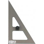 "Alvin® 10"" Hardened-Steel Triangle 30°/60°: 30/60, Black/Gray, Clear, Steel, 10"", Triangle, (model NS360-10), price per each"