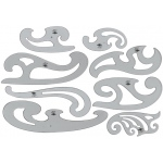 Alvin® French Curve Set of 8: Clear, Polystyrene, Curve, (model FC88), price per set