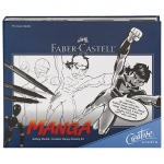 Faber-Castell® Creative Studio Getting Started Complete Manga Drawing Kit: Black/Gray, Brush Nib, Fine Nib, (model FC800095), price per kit