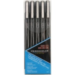 Prismacolor® Premier Black Fine Line Marker 5-Pack: Black/Gray, .005mm, .01mm, .03mm, .05mm, .08mm, Fine Nib, (model SN14171), price per set