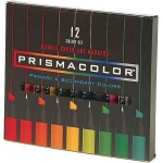 Prismacolor® Premier Art Marker 12-Color Primary/Secondary Set: Multi, Double-Ended, Alcohol-Based, Dye-Based, Extra Broad Nib, Fine Nib, (model BP12N), price per set