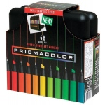 Prismacolor® Premier Art Marker 48-Color Set: Multi, Double-Ended, Alcohol-Based, Dye-Based, Extra Broad Nib, Fine Nib, (model BP48C), price per set