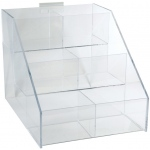 "Acrylic Rack: 6 Sections, 11 9/16""W x 10 7/8""H x 14 1/4""D"