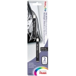 Pentel® Refill Pocket Brush Pen: Black/Gray, Pigment, Refill, (model FP10BP2A), price per pack