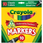 Crayola® Classic Marker Broad Line 10-Color Set: Multi, (model 58-7722), price per set