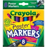 Crayola® Washable Poster Marker 8-Color Set: Multi, (model 58-8173), price per set