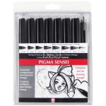 Pigma® Sensei™ 8-Pack Pen Set: Black/Gray, Technical