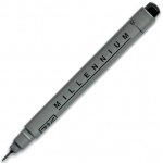 Zig®  Memory System® Millennium™ Pen .03 Black: Black/Gray, Pigment, .03mm, Fine Nib, (model MS03/10), price per each