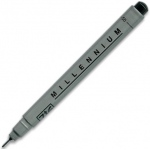 Zig®  Memory System® Millennium™ Pen .05 Black: Black/Gray, Pigment, .05mm, Fine Nib, (model MS05/10), price per each