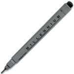 Zig®  Memory System® Millennium™ Pen .08 Black: Black/Gray, Pigment, .08mm, Fine Nib, (model MS08/10), price per each
