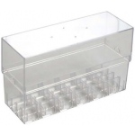 Copic® Wide Clear Empty Case Marker: 24 Markers, Clear, Plastic, Case, (model WEC24), price per each