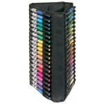 "Heritage Arts™ Vertical Marker Case Holds 60: 60 Markers, Black/Gray, Nylon, 9"" x 18"", Case, (model MCV60), price per each"