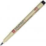 Pigma® Black Graphic Drawing Pen 3.0mm: Black/Gray, Pigment, 3mm, Fine Nib, (model XSDK3-49), price per each