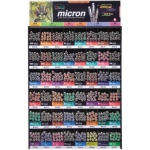 Pigma® Micron® Fine Line Design Pen 576-Piece Mega Display: Multi, Water-Based, Technical, (model S30075D), price per each