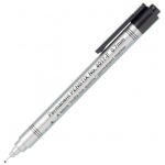 Alvin® Penstix Black Permanent Marker Fine: Black/Gray, Alcohol-Based, .7mm, Fine Nib, (model 4017-F), price per each