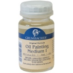 Grumbacher® Matte Finish Oil Painting Medium I: Matte, Bottle, 2.5 oz, Oil, (model GB5752), price per each