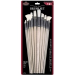 Royal & Langnickel® White Bristle Combo Brush Set: Multi, White Bristle, Multi, Multi
