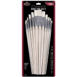 Royal & Langnickel® White Bristle Flat Brush Set: Multi, White Bristle, Flat, Multi, Multi