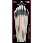 Royal & Langnickel® White Bristle Round Brush Set: Multi, White Bristle, Multi, Round, Multi