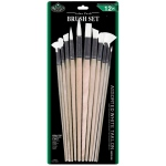 Royal & Langnickel® White Taklon Combo Brush Set: Multi, White Taklon, Multi, Multi
