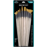 Royal & Langnickel® Gold Taklon Combo Brush Set: Multi, Gold Taklon, Multi, Multi, (model RSET-9607), price per set
