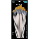 Royal & Langnickel® Gold Taklon Flat Brush Set: Multi, Gold Taklon, Flat, Multi, Multi, (model RSET-9603), price per set
