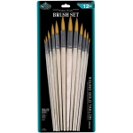 Royal & Langnickel® Gold Taklon Round Brush Set: Multi, Gold Taklon, Multi, Round, Multi