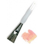 Royal & Langnickel® Soft Grip™ Stiff Hog Bristle Glaze Brush 1/2: Stiff Hog Bristle, Glaze, 1/2, Acrylic, Oil, Watercolor