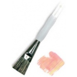 Royal & Langnickel® Soft Grip™ Stiff Hog Bristle Glaze Brush 3/4: Stiff Hog Bristle, Glaze, 3/4, Acrylic, Oil, Watercolor