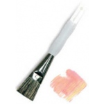 Royal & Langnickel® Soft Grip™ Stiff Hog Bristle Glaze Brush 1: Stiff Hog Bristle, Glaze, 1, Acrylic, Oil, Watercolor