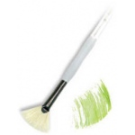 Royal & Langnickel® Soft Grip™ Stiff Hog Bristle Fan Brush 4: Stiff Hog Bristle, Fan, 4, Acrylic, Oil, Watercolor