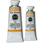 Da Vinci Artists' Watercolor Paint 15ml Cadmium Yellow Deep: Yellow, Tube, 15 ml, Watercolor