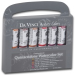 Da Vinci Artists' Watercolor Paint 6-Color Quinacridone Set: Multi, Tube, 15 ml, Watercolor