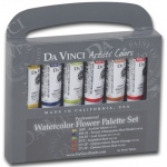 Da Vinci Artists' Watercolor Paint 6-Color Flower Set: Multi, Tube, 15 ml, Watercolor, (model DAVWC022), price per set