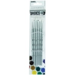 Liquitex® Basics 6-Piece Brush Pack Short Handle: Short Handle, Bright, Fan, Flat, Round, Acrylic