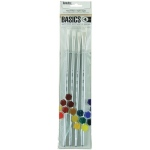 Liquitex® Basics 4-Piece Brush Pack Long Handle: Long Handle, Bright, Filbert, Round, Acrylic