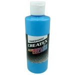 Createx™ Airbrush Paint 4oz Caribbean Blue: Blue, Bottle, 4 oz, Airbrush, (model 5105-04), price per each