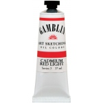 Gamblin 1980 Oil Color Paint Cadmium Red Light 37ml: Red/Pink, Tube, 37 ml, Oil, (model G7140), price per tube