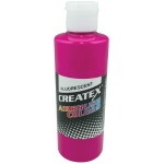 Createx™ Airbrush Paint 2oz Fluorescent Raspberry: Red/Pink, Bottle, 2 oz, Airbrush, (model 5402-02), price per each