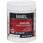 Liquitex® Gloss Gel Medium 16oz: Gloss, 16 oz, Gel, (model 5716), price per each