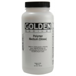 Golden® Polymer Gloss Medium 16 oz.: 16 oz, 473 ml, Acrylic Painting, (model 0003510-6), price per each