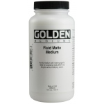 Golden® Fluid Matte Medium 16 oz.: Matte, 16 oz, 473 ml, (model 0003520-6), price per each