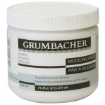 Grumbacher® Modeling Paste 16oz: Jar, 16 oz, Modeling Paste, (model GB52616), price per each