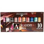 Grumbacher® Academy® Oil Paint 10-Color Set: Multi, Tube, 24 ml, Oil