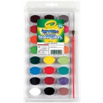 Crayola® Washable Watercolor 24-Color Set: Multi, Watercolor, (model 53-0524), price per set