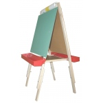 Beka Ultimate Easel: Chalkboard & Magnet Board, Red Plastic Tray
